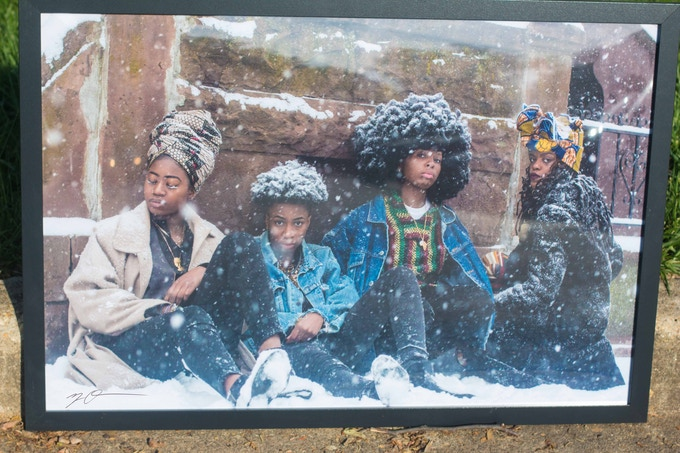 "36x24 inch (pictured) / 21x14 inch Signed + Framed ""4 Queer African Women"" Limit(less) Print"
