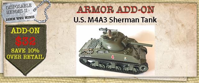 Add-On - M4A3 Sherman