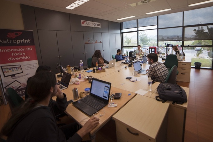 AstroPrint developers (in Malaga, Spain) working hard to help you 3D Print stuff with more ease