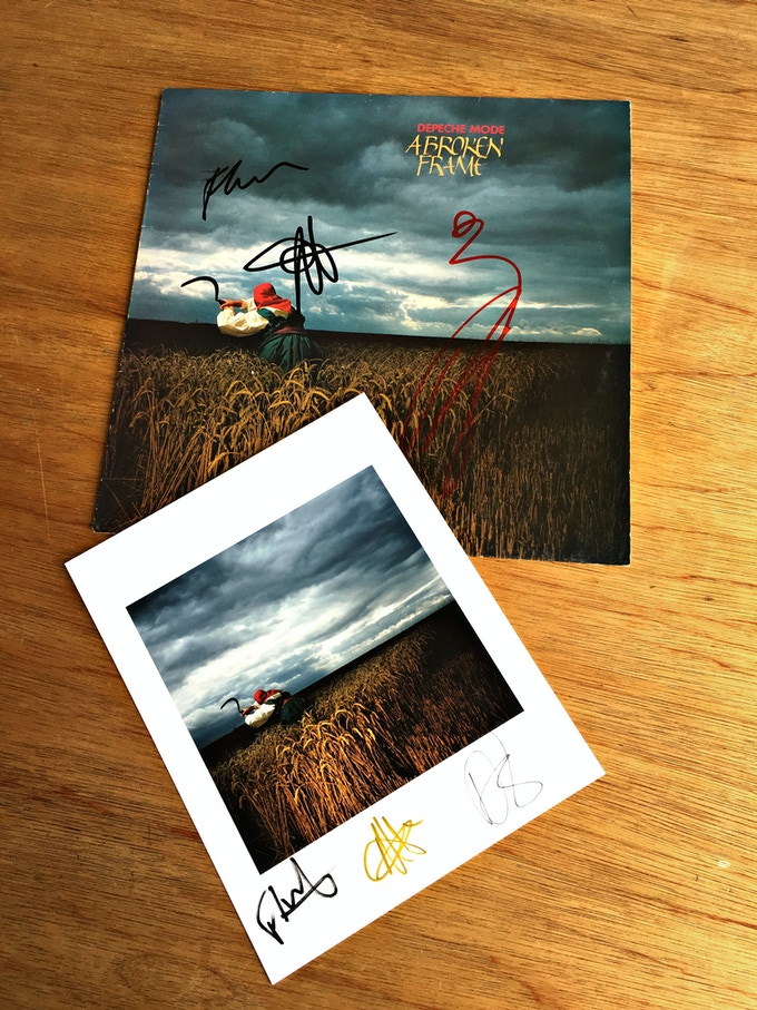 Broken Frame Album and Print signed By Depeche Mode, reward 10