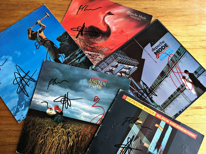 Albums signed By Depeche Mode, reward 4