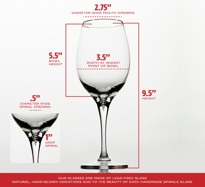 The Spirale Wine Glass By Margarita And Patrick Vacanti