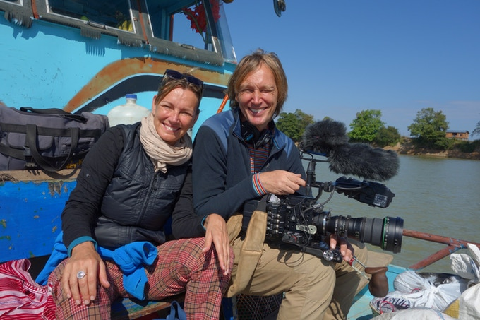 Photo of Corinne and Petr at work in Myanmar