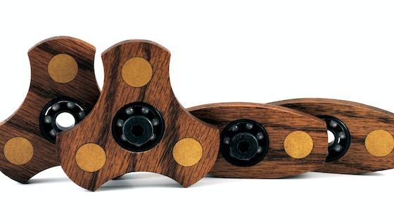 Brass and Oak Fidget Spinner