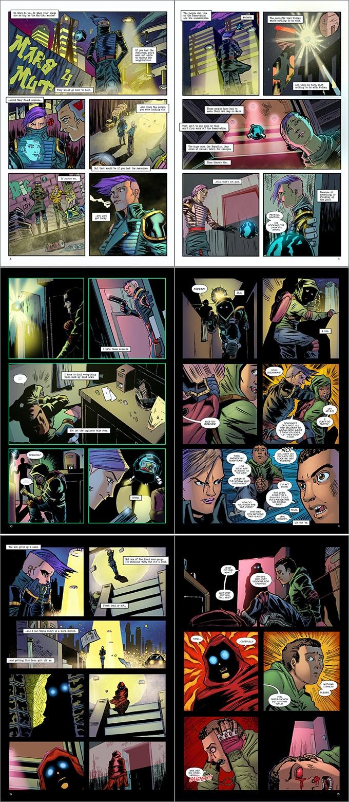 Astropunk #1 'Revisit' pages 9-14