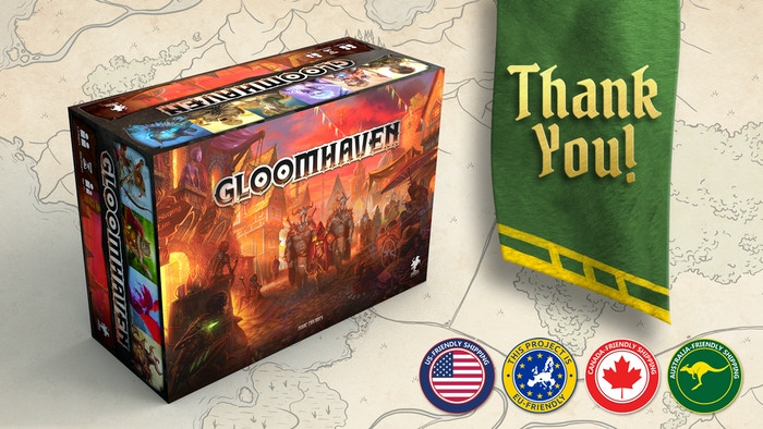 Gloomhaven second printing by isaac childres kickstarter get the improved version of gloomhaven a cooperative card driven game of combat in solutioingenieria