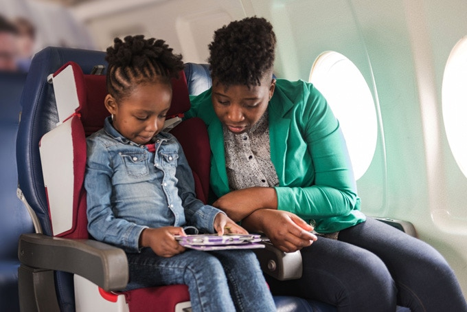 Child Seat in Airplane - Approx 3-12 years old