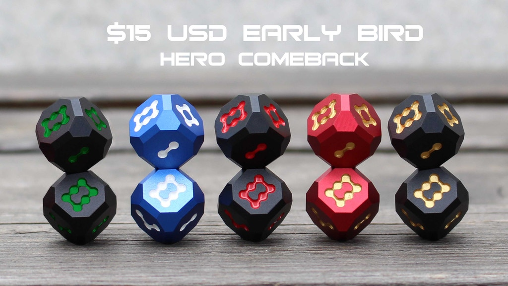 Hero dice Comeback campaign: Aluminum collectable dice project video thumbnail