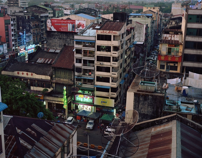 Yangon cityscape - signed limited edition photo print, size: 40 x 50 cm (Ed. 25) pledge reward - courtesy of Dana Lixenberg