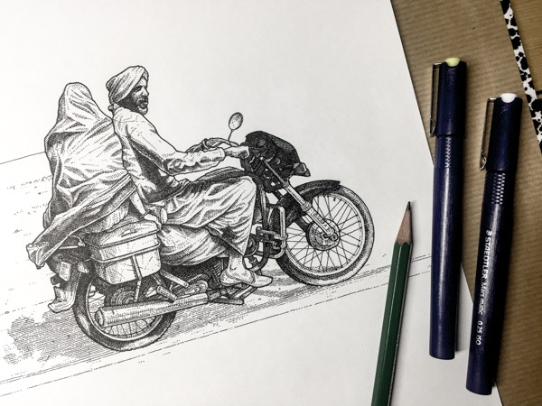 Original artwork, signed by the illustrator