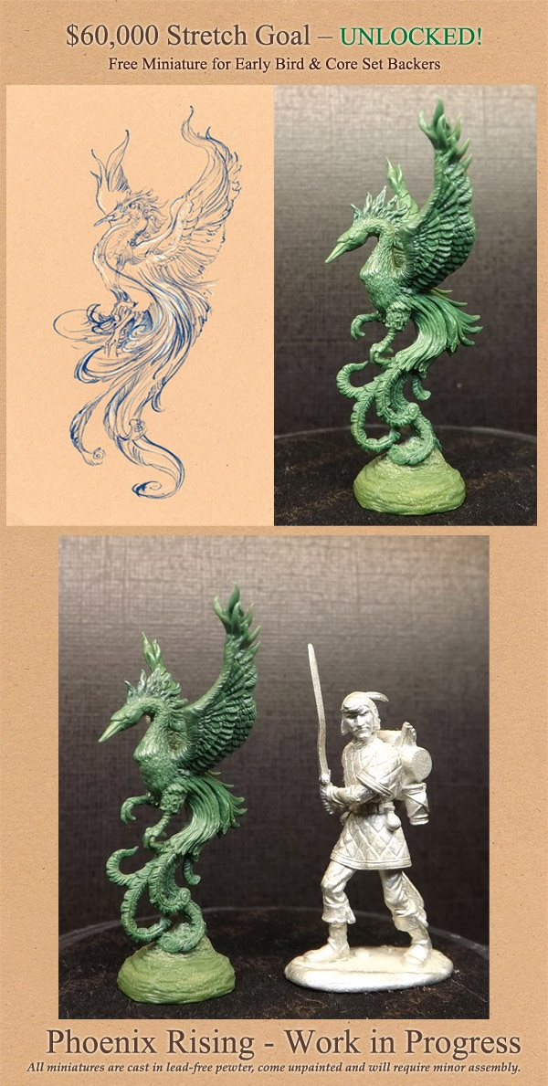 The pewter miniature in the picture is not included as it is for a general size comparison only.