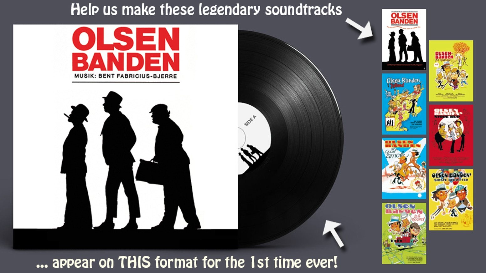 Olsen Banden Vinyl Best Of Vol 1 Soundtrack Release By
