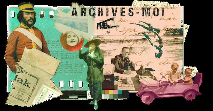 Création inspirée du mouvement Dada créée à partir d'archives. Par Simon Côté-Lapointe. Exemple d'un remix diffusé sur Archives-moi.