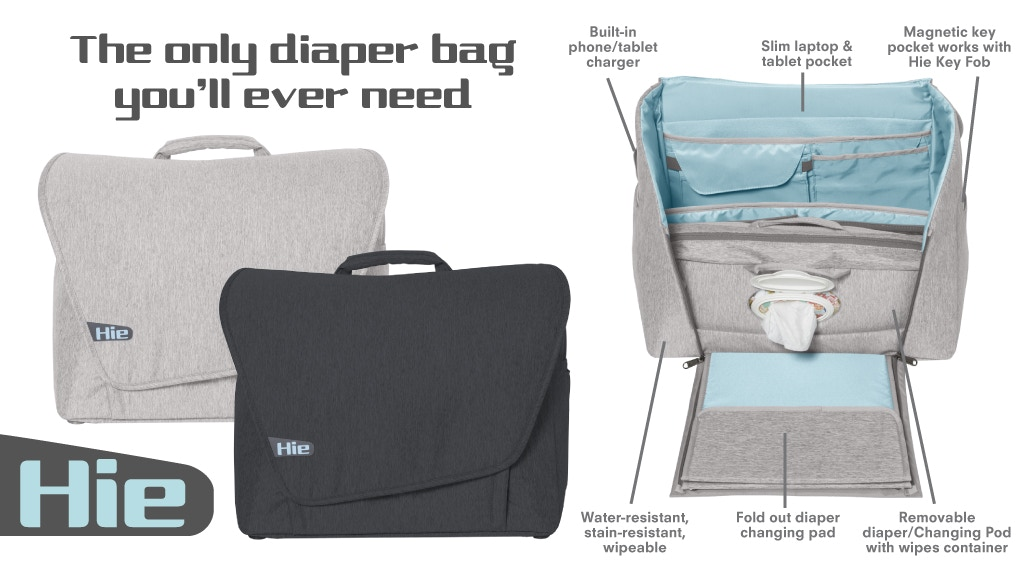Hie Diaper Bag Your New Best Friend By Grovia Kickstarter