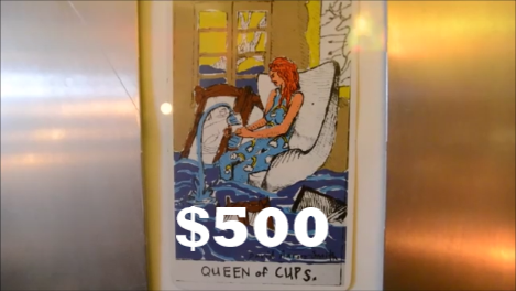 Reward 5 - Framed and Signed Tarot Card