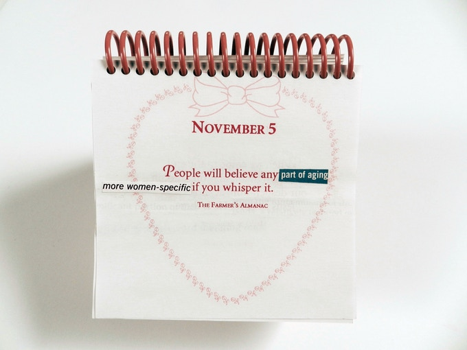 """Excerpt From """"A Calendar of Altered Quotes"""""""