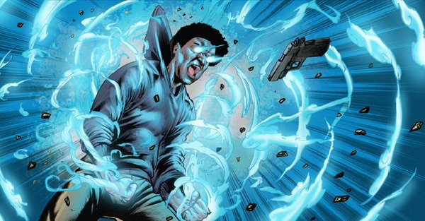 An explosive scene of action from Route 3 #3. Pencils/ inks Sean Damien Hill. Colors, Omi Remalante