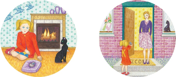 Some of the 'Bruce Finds A Home' illustrations