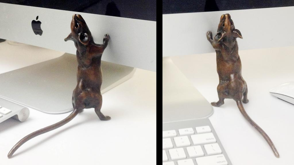 NEW solid bronze mouse sculpture. It's Lively Mouse! project video thumbnail