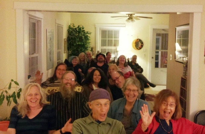 a lovely house concert audience!