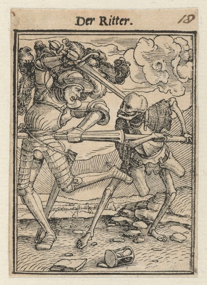 This Hans Holbein piece was the inspiration for the commander with armor