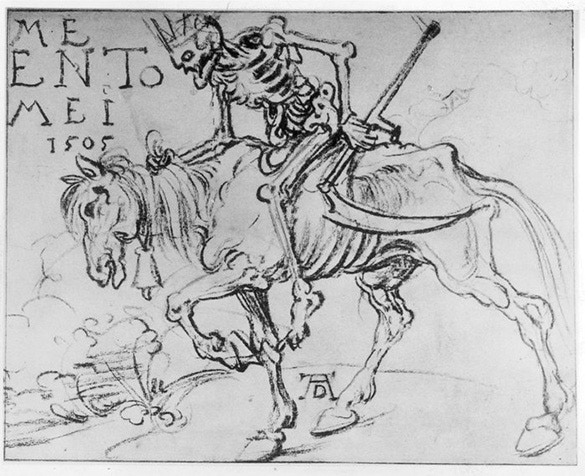 Albrecht Durer's sketch of Death was all the concept needed for our mounted commander