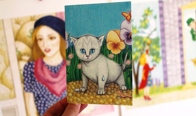 The Bruce the Cat card