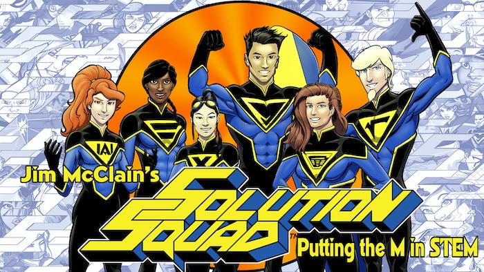 Solution Squad is a graphic novel about math-themed superheroes. Kids can't help but learn when reading their exciting adventures!