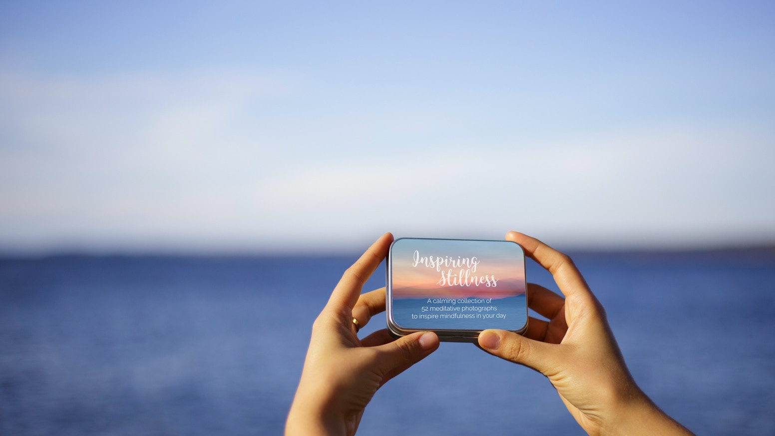 A handheld collection of 52 meditative photographs. Cards foster daily reflection & add beauty, serenity, and inspiration to your day.