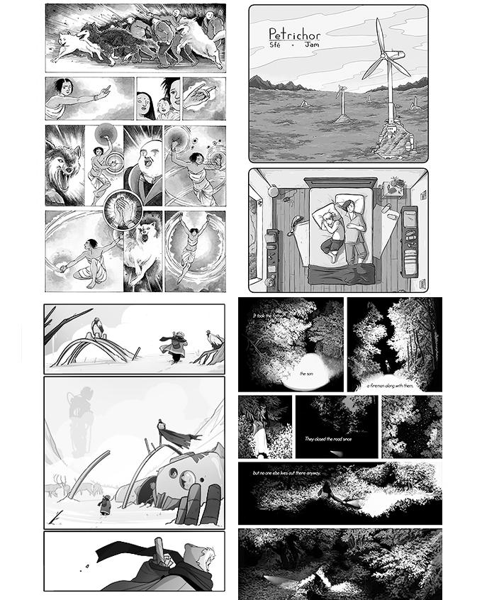 Art by: Bishakh Som | Sfé R. Monster & Jam | Kiku Hughes & Sara DuVall | Alexxander Dovelin