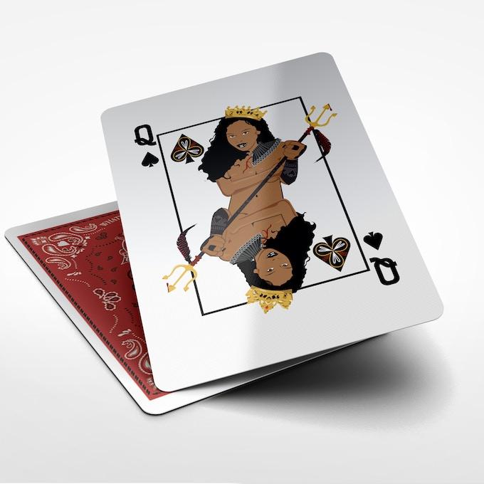 Foxy Brown as Queen of Spades