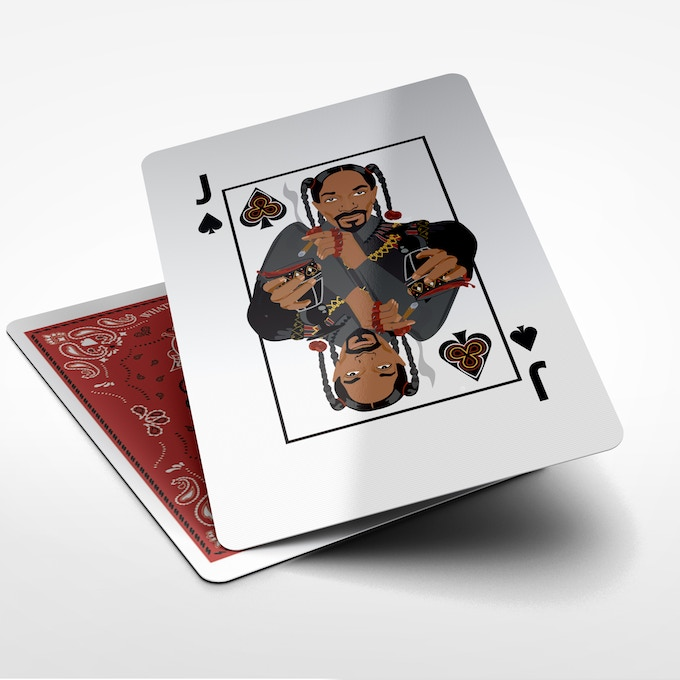 Snoop Dogg as the Jack of Spades