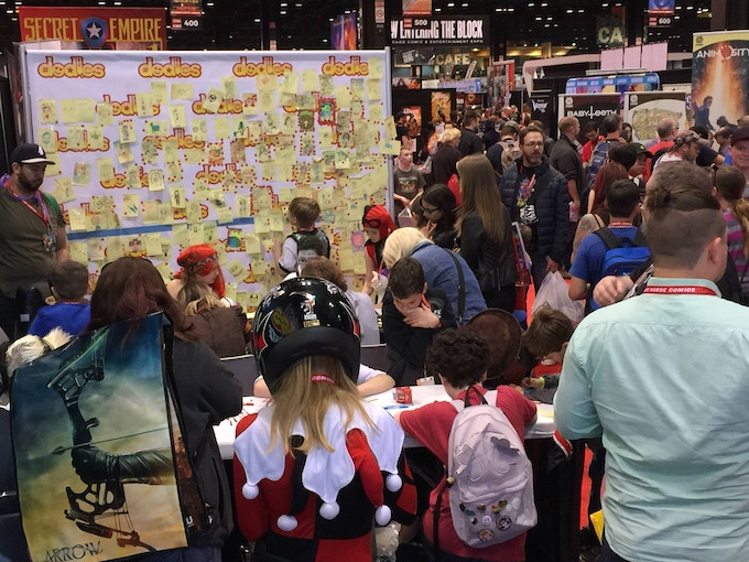 our booth at C2E2