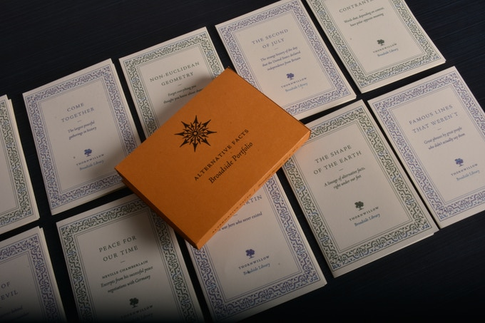 This portfolio is a continuation of our celebrated Broadside Library. With the addition of these ten broadsides, the Broadside Library has reached over a hundred titles.