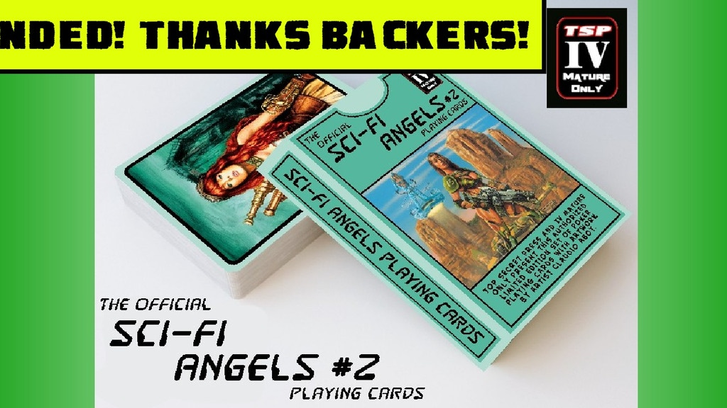 The Official Sci Fi Angels Playing Card Set #2 project video thumbnail