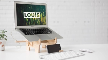 LOUIS | The laptop stand : a new perspective by Dahu Design