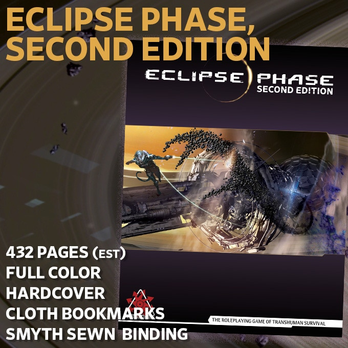 Eclipse Phase, Second Edition Cover