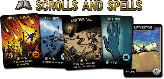Fire, Air, Earth and Water spells