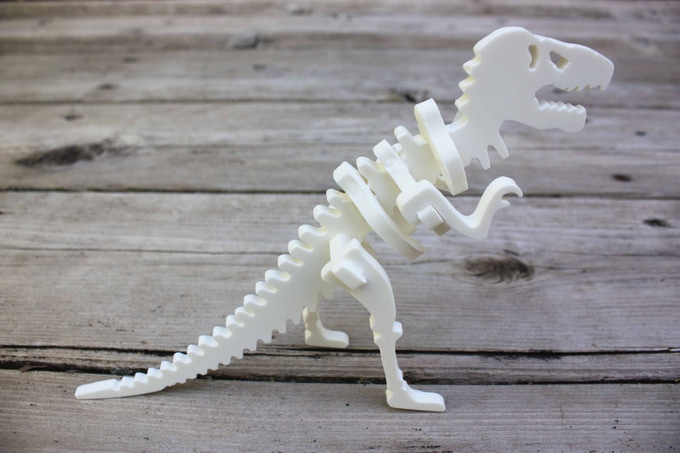Try out other kinds of chocolate too - how about a white chocolate T-Rex!