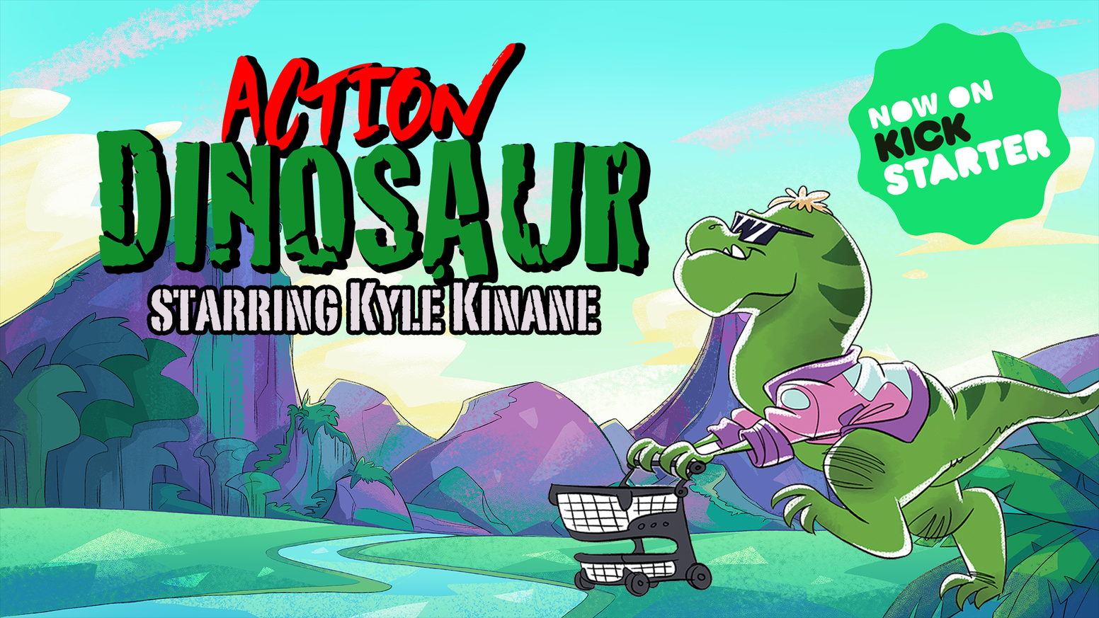 An animated comedy about a time traveling action hero T-Rex from the prehistoric 80s!