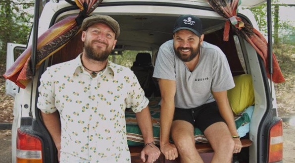 Jonny Dustow and Jared Melrose: Byron Bay, Australia. Co-founders of the hugely popular Vanlife blog and social media accounts.