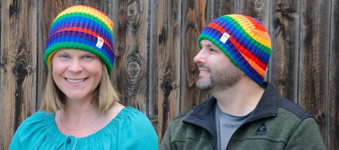The Big Rainbow Hat fits people ages 7-107 years!