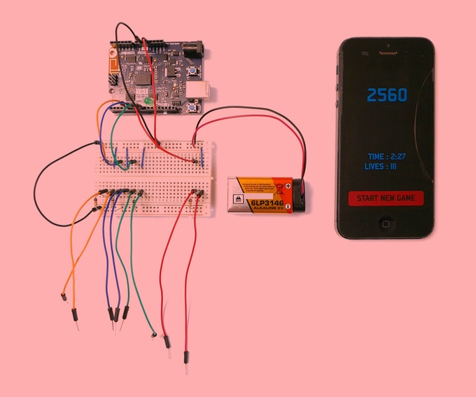 Microcontroller, wires, breadboard, battery and smartphone are NOT included in the starter kit.