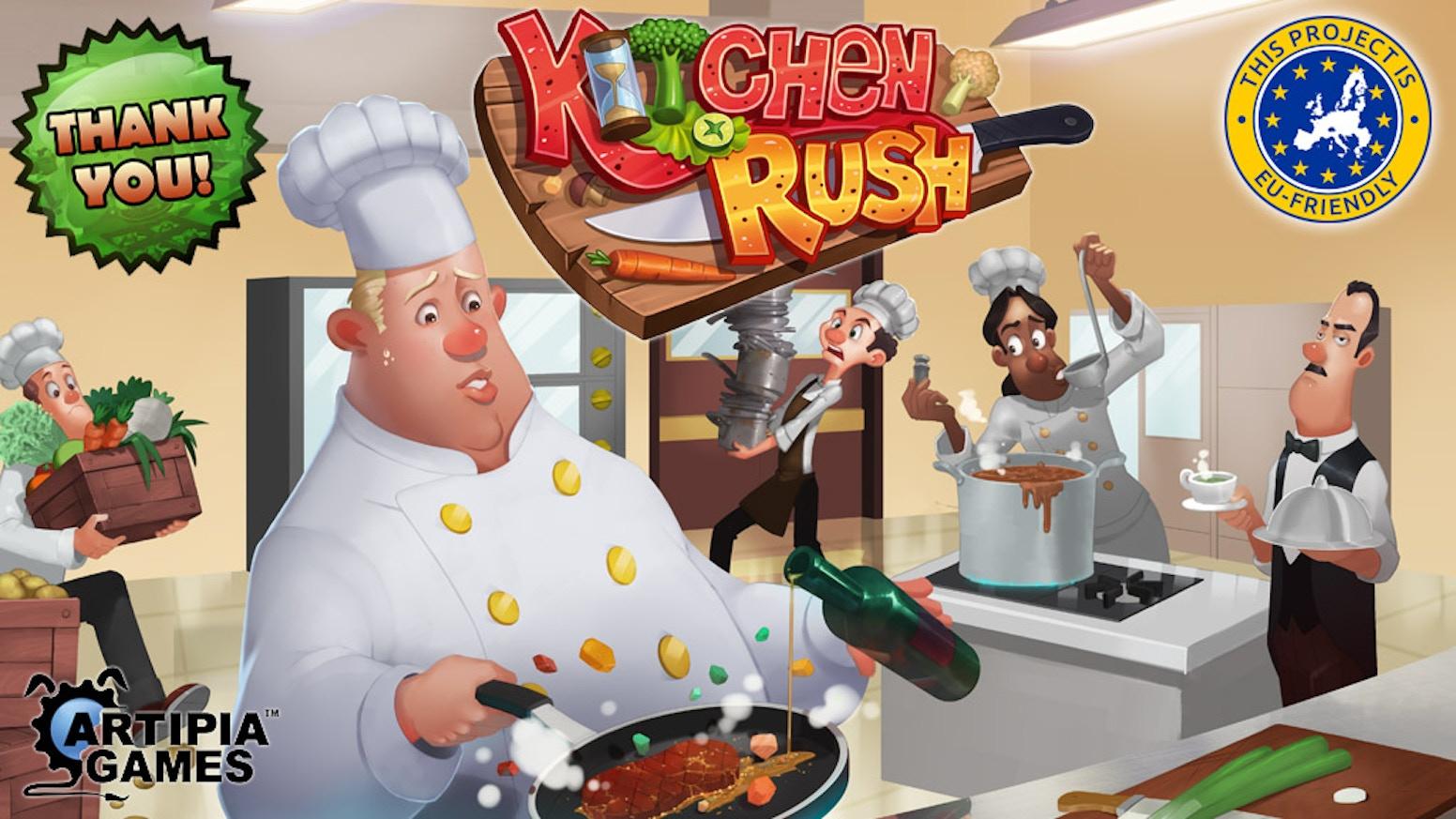 Kitchen rush by artipia games kickstarter for Kitchen set environment
