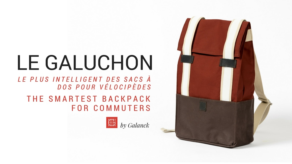 Le Galuchon, Smart & Urban Backpack for commuters project video thumbnail