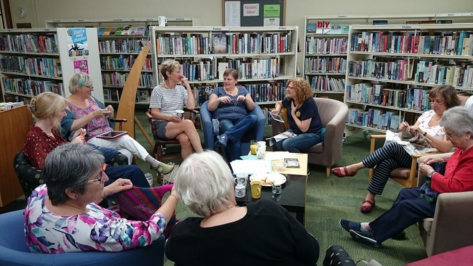 Knit and Natter at Rastrick Library