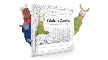 Falafel 39 s garden eco friendly children s book and plush by fluffmonger jenny maj kickstarter for Children s books about gardening