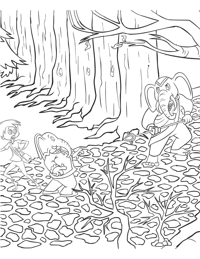Coloring Book Sample Page 1 of 3