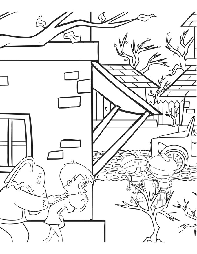 Coloring Book Sample Page 2 of 3