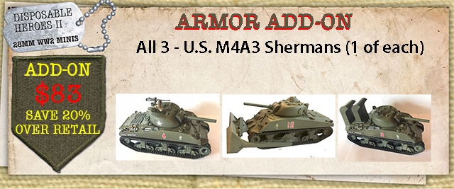 M4A3 - 1 of each